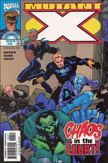 Couverture de Mutant X (1998) -6- The trial of the brute