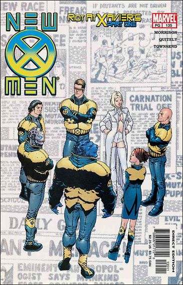 Couverture de New X-Men (2001) -135- Riot at xavier's part 1 : teaching children about fractals