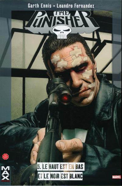 Couverture de Punisher (MAX Comics) -5- Le haut est en bas et le noir est blanc