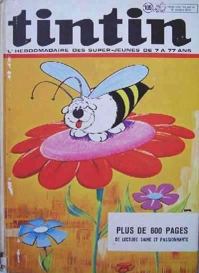 Couverture de (Recueil) Tintin (Album du journal - Édition belge) -105- Tome 105