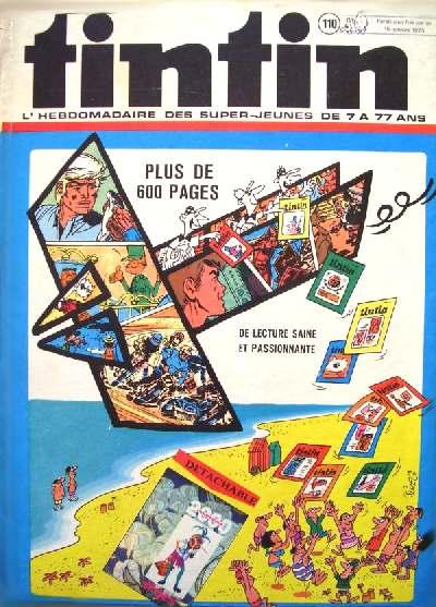 Couverture de (Recueil) Tintin (Album du journal - Édition belge) -110- Tome 110
