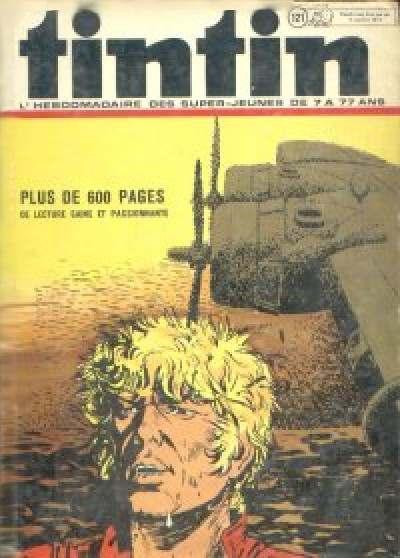 Couverture de (Recueil) Tintin (Album du journal - Édition belge) -121- Tome 121