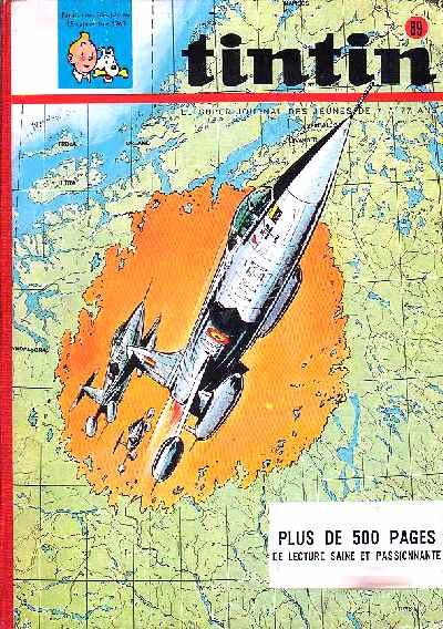 Couverture de (Recueil) Tintin (Album du journal - Édition belge) -89- Tome 89