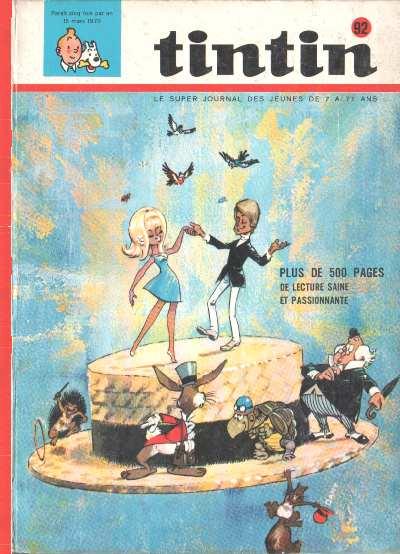 Couverture de (Recueil) Tintin (Album du journal - Édition belge) -92- Tome 92