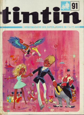 Couverture de (Recueil) Tintin (Album du journal - Édition française) -91- Tintin album du journal