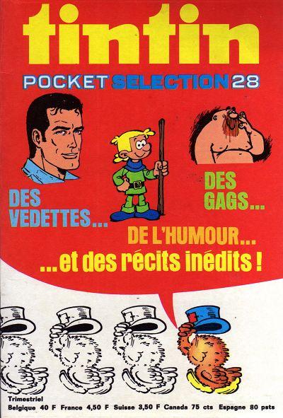 Couverture de (Recueil) Tintin (Pocket Sélection) -28- Des vedettes... Des Gags... De l'humour... ...et des récits inédits !