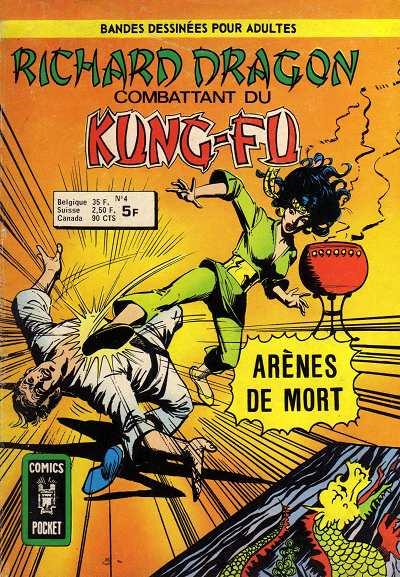 Couverture de Richard Dragon - Combattant du Kung-Fu (Arédit) -4- Arènes de mort