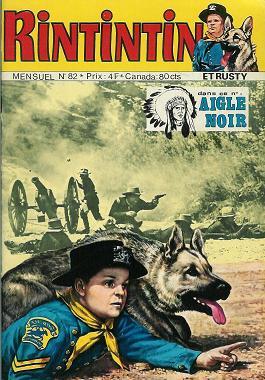 Couverture de Rin Tin Tin & Rusty (2e série) -82- Rintintin n°82