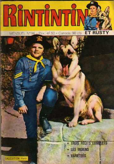 Couverture de Rin Tin Tin & Rusty (2e série) -96- Rintintin n°96