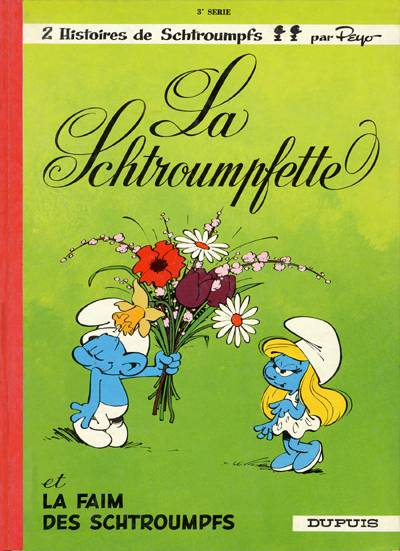 Couverture de Les schtroumpfs -3- La Schtroumpfette