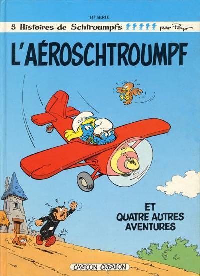 Couverture de Les schtroumpfs -14- L'aéroschtroumpf