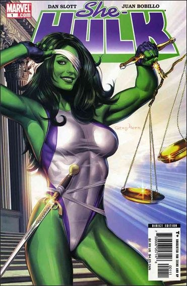 Couverture de She-Hulk (2005) -1- Many happy returns