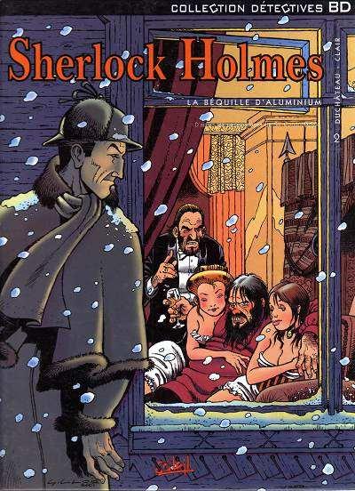 Couverture de Sherlock Holmes (Duchâteau/Clair) -2- La béquille d'aluminium