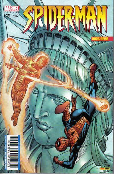 Couverture de Spider-Man Hors Série (Marvel France puis Panini Comics, 1re série) -21- Spider-Man / la Torche
