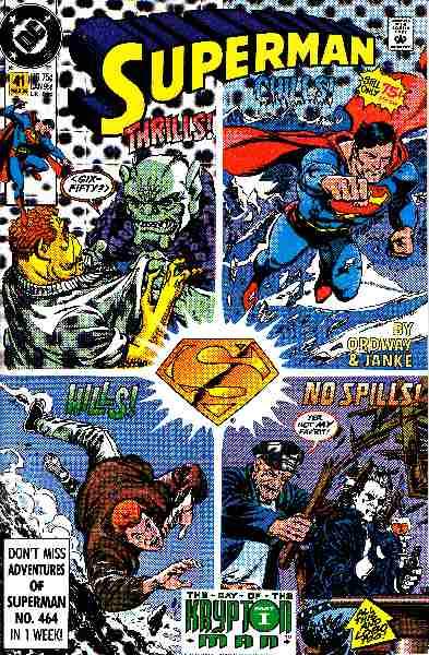 Couverture de Superman Vol.2 (DC comics - 1987) -41- Thrills - Chills - Hills No Spills!
