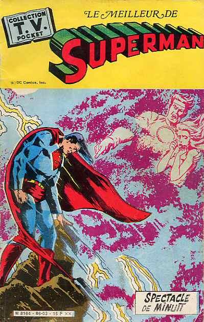 Couverture de TV pocket (Collection ) (Sagedition) -16- Le meilleur de Superman (Spectacle de minuit)