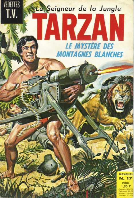 Couverture de Tarzan (2e Série - Sagédition) (Vedettes T.V.) -17- Le mystère des montagnes blanches