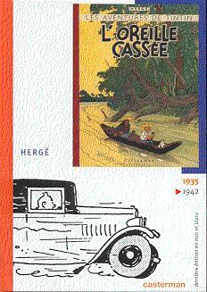 Couverture de Tintin (Dernière édition en NB) -5- L'oreille cassée