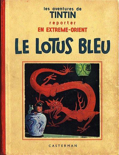 Couverture de Tintin (Historique) -5- Le lotus bleu