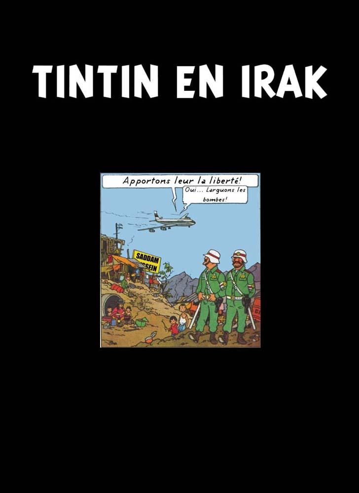 Couverture de Tintin - Pastiches, parodies & pirates -29- Tintin en Irak