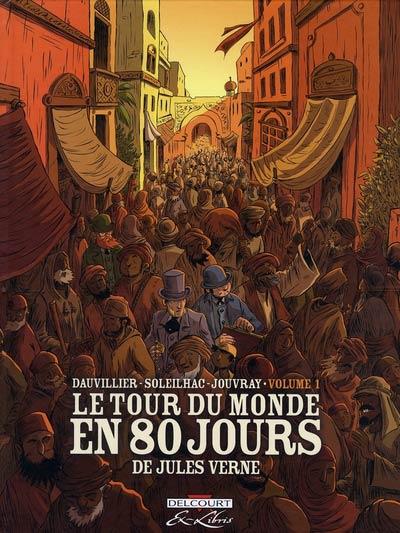 Couverture de Le tour du monde en 80 jours (Soleilhac) -1- Volume 1