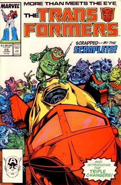 Couverture de Transformers (The) (1984) -29- Scrapped by the Scraplets