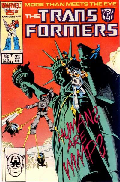 Couverture de Transformers (The) (1984) -23- Decepticon graffiti