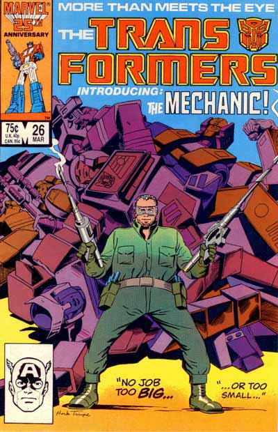 Couverture de Transformers (The) (1984) -26- Introducing: The Mechanic!