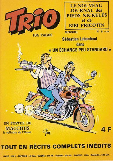 Couverture de Trio - Les Pieds Nickelés Magazine -8- N°8