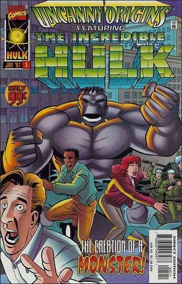 Couverture de Uncanny Origins -5- The origin of the incredible hulk