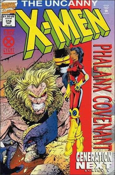Couverture de Uncanny X-Men (The) (Marvel comics - 1963) -316- Phalanx covenant : generation next part 1