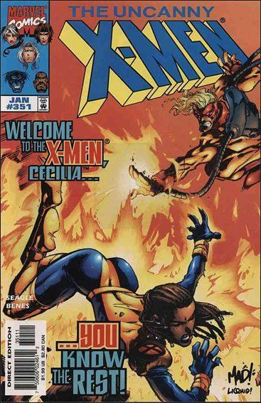 Couverture de Uncanny X-Men (The) (Marvel comics - 1963) -351- Hours & minutes