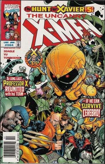 Couverture de Uncanny X-Men (The) (Marvel comics - 1963) -364- The hunt for xavier ! part 5 : escape from alcatraz