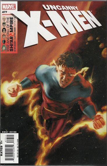 Couverture de Uncanny X-Men (The) (1963) -477- Rise And Fall of the Shi'ar Empire, part 3: Vulcan's Progress