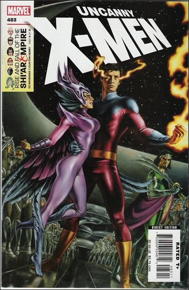 Couverture de Uncanny X-Men (The) (Marvel comics - 1963) -483- Rise and fall of the shi'ar empire part 9 : vulcan's descent