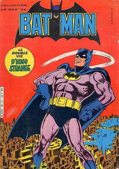 Couverture de Un max' de... -4- Un max' de Batman - La Double Vie d'Hugo Strange