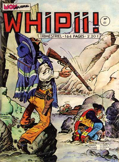 Couverture de Whipii ! (Panter Black, Whipee ! puis) -61- Larry Yuma - Quanak l'apache