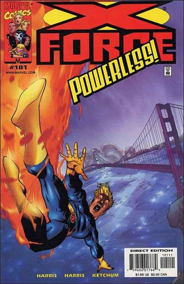 Couverture de X-Force Vol.1 (Marvel comics - 1991) -101- Learning to fly