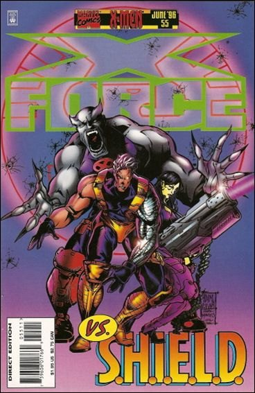 Couverture de X-Force Vol.1 (Marvel comics - 1991) -55- Without a net