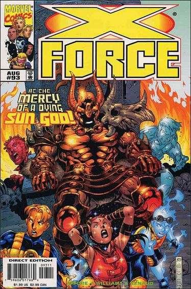 Couverture de X-Force Vol.1 (Marvel comics - 1991) -93- Temple of the dying sun