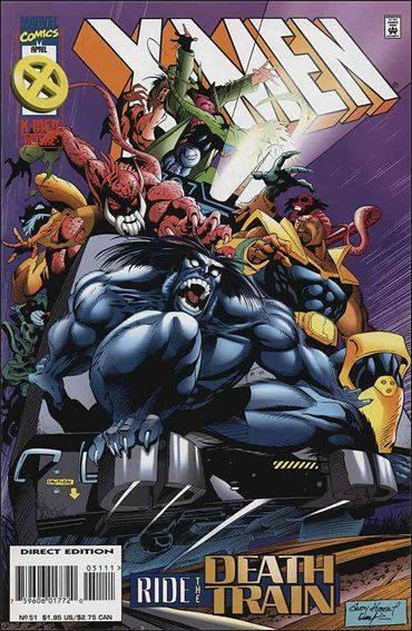 Couverture de X-Men (1991) -51- Deathbound train