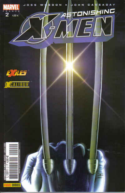 Couverture de Astonishing X-Men (kiosque) -2- L'épée sur l'enclume