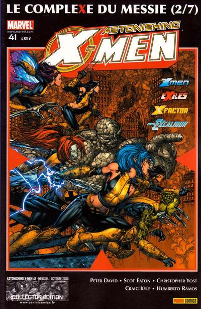 Couverture de Astonishing X-Men (kiosque) -41- Le complexe du messie (2/7)