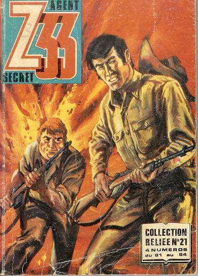 Couverture de Z33 agent secret -Rec21- Collection reliée N°21 (du n°81 au n°84)
