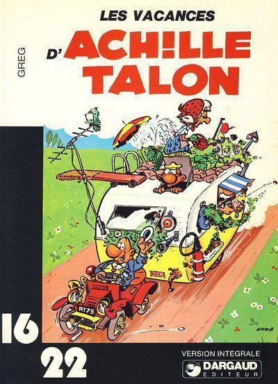 Couverture de Achille Talon (16/22) -214- Les vacances d'Achille Talon