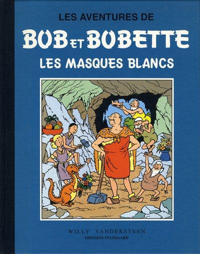 Couverture de Bob et Bobette (Collection classique bleue) -7- Les masques blancs