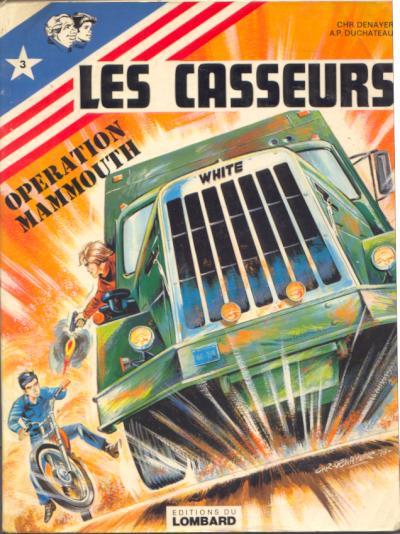 Couverture de Les casseurs - Al & Brock -3- Opération Mammouth