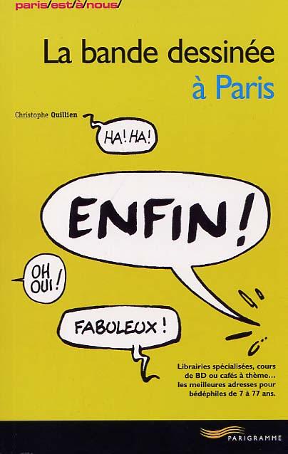 Couverture de (DOC) Études et essais divers - La bande dessinée à Paris