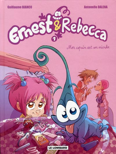 Couverture de Ernest & Rebecca -1- Mon copain est un microbe