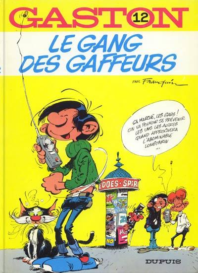 Couverture de Gaston -12- Le gang des gaffeurs